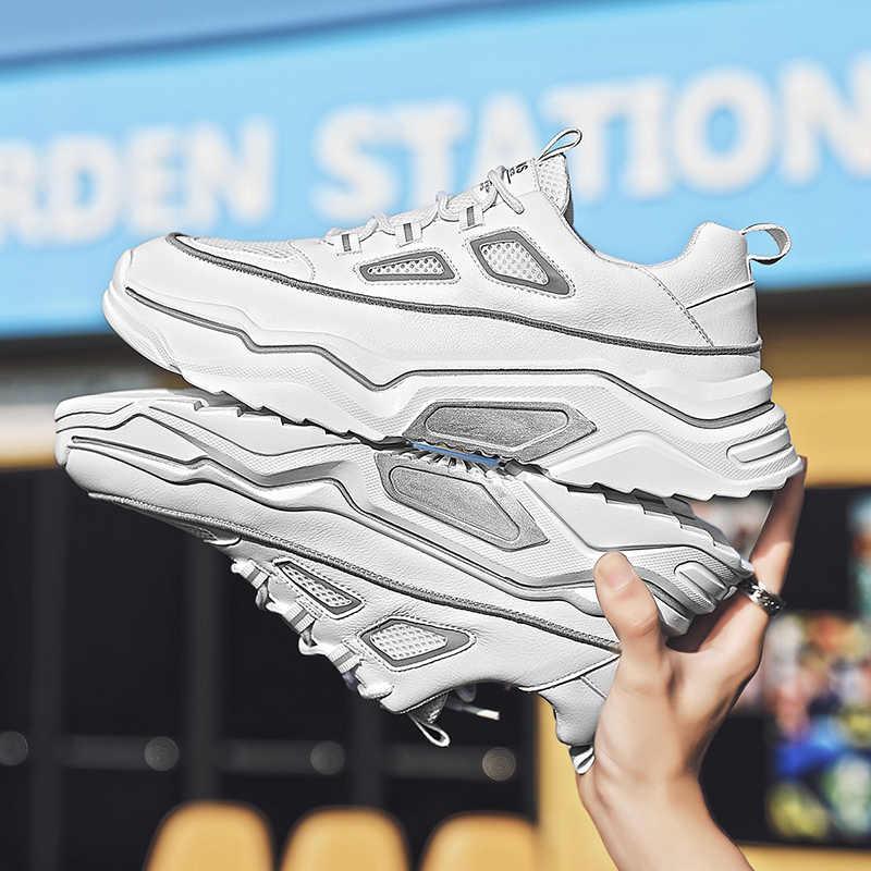 Yeni erkek üçlü S koşu ayakkabıları PU deri parça Runner 3.0 Sneakers masaj tıknaz TN artı eğitmenler