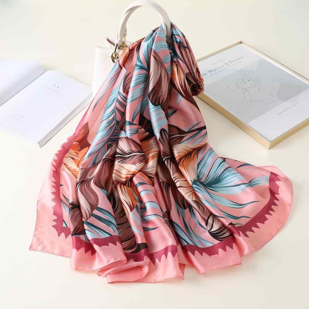 Sciarpa di Modo di Lusso Delle Donne di Marca Sciarpa di Seta Delle Donne Dello Scialle Delle Sciarpe di Alta Qualità di Stampa Hijab Wrap 180*90 Centimetri