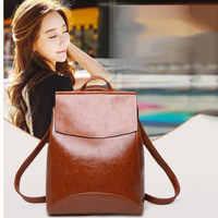 Zaini delle donne di modo più grande capacità di borsa per le donne 2019 nero delle signore zaini sacchetto di scuola per la ragazza