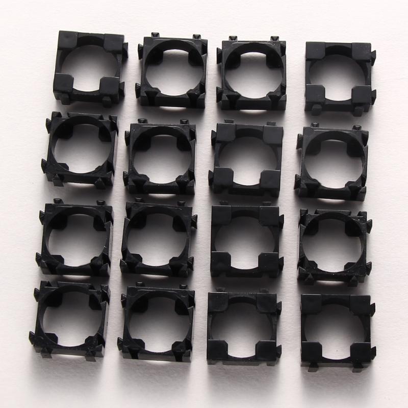 100PCS 18650 Lithium Battery Bracket Cylindrical Battery Pack Bracket Stand Battery Holder Lithium Battery Organiser Safety Anti Vibration