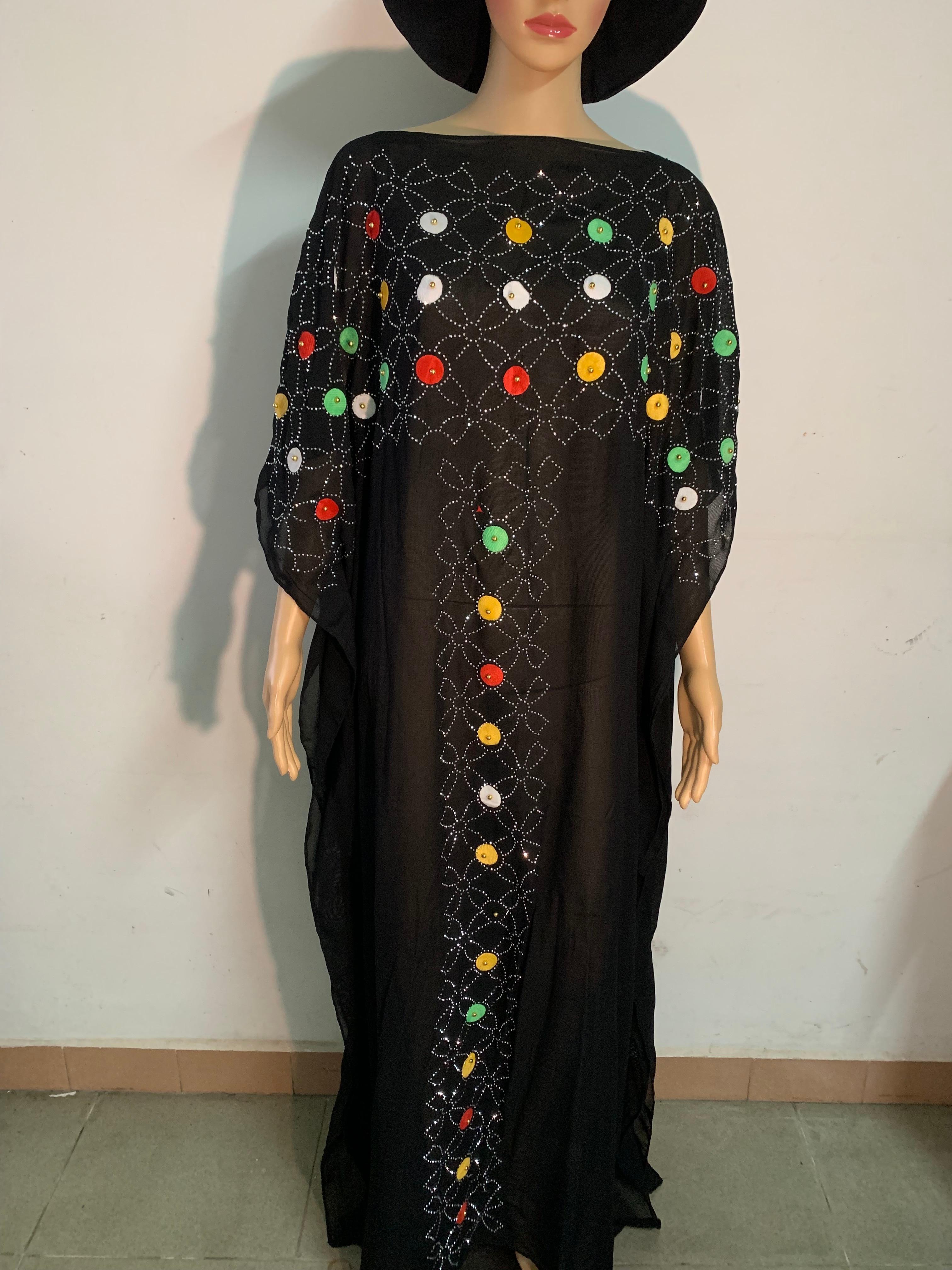 Элегантная абайя, кафтан, женские платья, короткий рукав, черные, летние, многоцветные, мусульманские платья, африканские платья для женщин