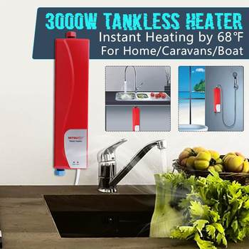 Electric Tankless Water Heater Instant Shower 220V 3000W ABS Household Water Heater for Indoor Kitchen Bathroom Water Heater 1