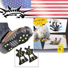 Anti Slip Es Salju Spike-S Grip Grippers Crampon Cleat Sepatu Boot Mat(China)