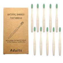 10Pcs Adult Multi-color Natural Bamboo Toothbrush With Wood Handle Soft Bristle Adult Toothbrush Eco Friendly Bamboo Toothbrush