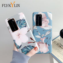 Flykylin Art Bloemen Bananenblad Telefoon Case Voor Huawei P40 P40 Lite P40 Pro Case Cover Luxe Soft Silicon Imd telefoon Coque Shell(China)