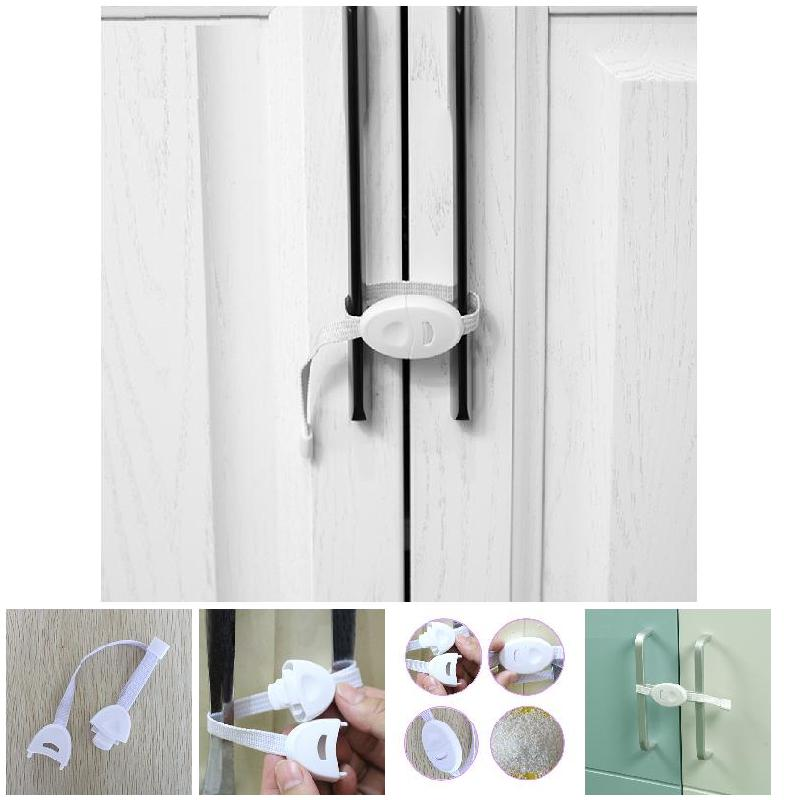 2pcs Baby Safety Locks Furniture Restrictor Baby Kids Protection Cupboard Cabinet Fridge Door Lock YH-17