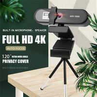 BENTOBEN-cámara Web 4K para conferencias, PC, autoenfoque, USB, ordenador portátil de escritorio para oficina, reunión en casa, con micrófono, 1080P, HD, Webcam