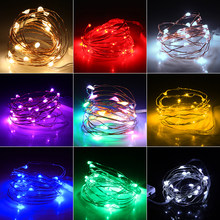 Led String Lights 2M 20leds CR2032 Battery Operated Copper Wire Fairy Lights for Christmas Garland Decoration(China)
