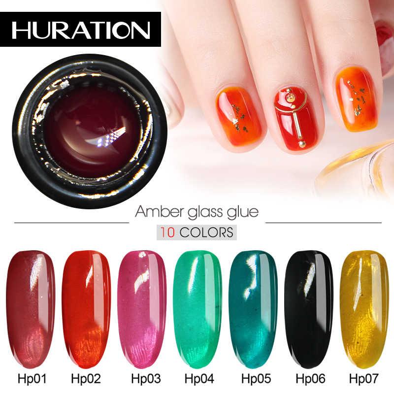 Huration 1Pcs שקוף ריבת זכוכית UV ג 'ל לק חצי קבוע היברידי ג' ל לכה LED סוכריות לק אמייל