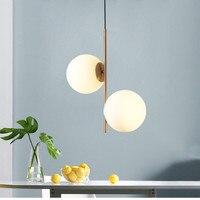 Art deco glass ball fancy pendant light European style led restaurant bedroom dining room hanging lamp