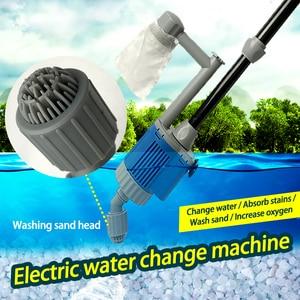 Image 4 - 20/28W Electric Fish Tank  Water Change Pump Aquarium Cleaning Tools Water Cleaner Siphon Water Filter Pump Aquarium Accessories