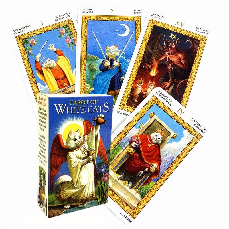 Новый Таро Белых Кошек Oracle игральные карты, настольные Deck игры для вечерние