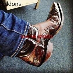 Botas de tornozelo inverno homens sapatos apliques vintage clássico masculino casual motocicleta bota zapatos de hombre moda sapatos masculinos d139