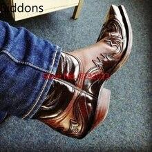 Winter Ankle Boots Men Shoes Appliques Vintage Classic Male