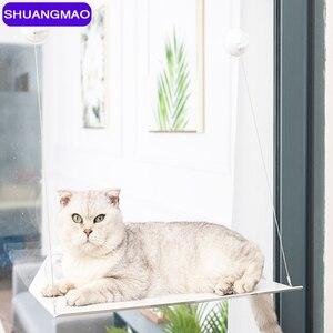 Kot domowy śliczny hamak mata na łóżko Rolling 20kg koty okno leżak ssania Sunbath montaż wiszące wygodne zwierzęta półki siedzenia łóżka