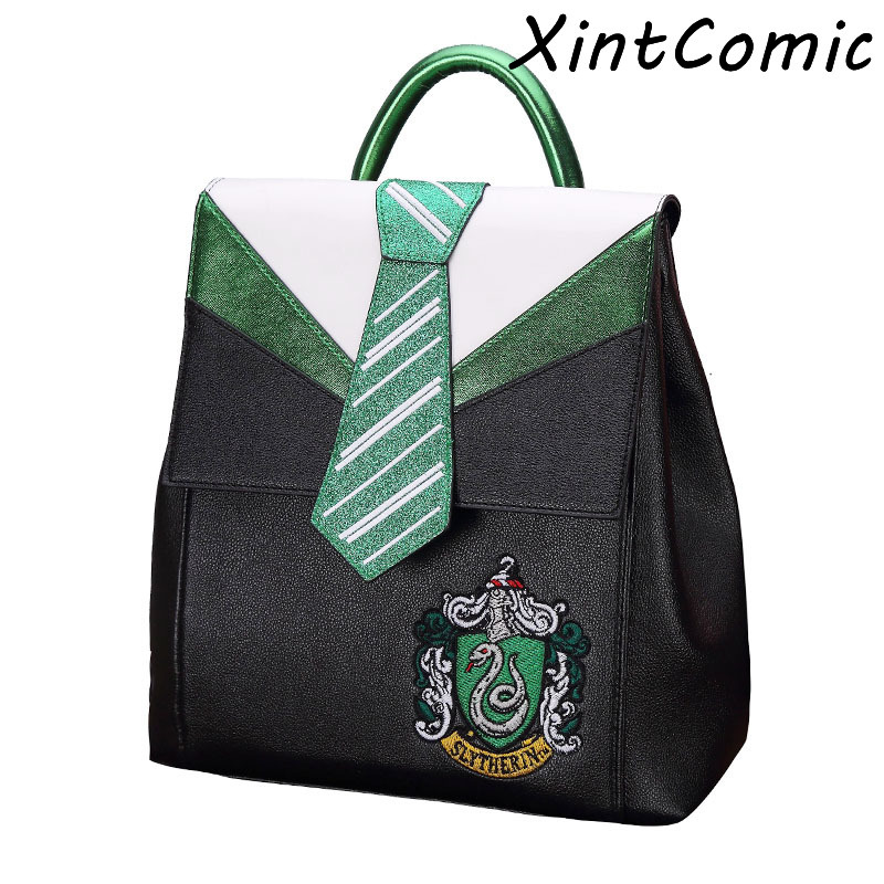 Magic Hogwarts Gryffindor Slytherin Ravenclaw Hufflepuff Tie Backpack Canvas Travel Bag Teenager School Bags