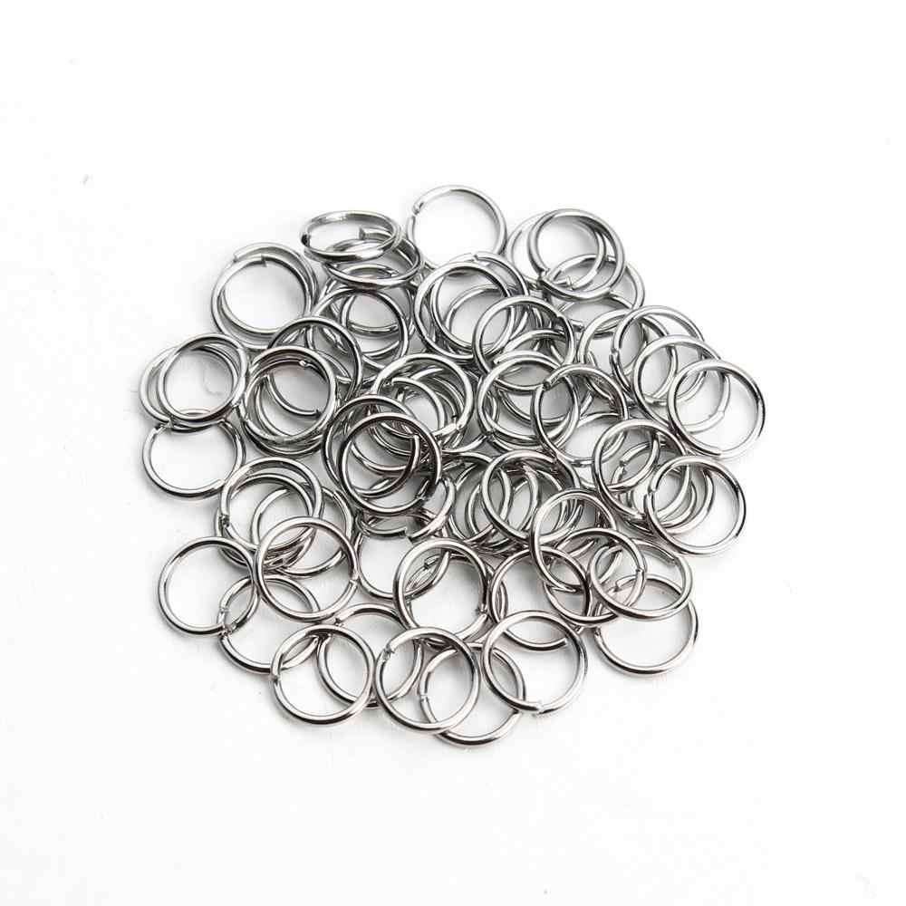 SAUVOO 100 Pcs/lot Edelstahl Geöffnete Sprung-Ring 4/5/6/8mm Dia Runde gold Farbe Split Ringe Für Diy Schmuck, Die Entdeckungen