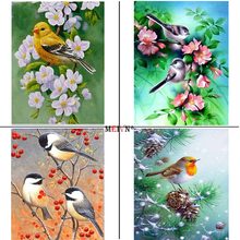 MEIVN 5D DIY Diamond Painting Four Seasons Of Birds Full Square Round Diamond Embroidery Animal Rhinestones Pictures Crafts Kit