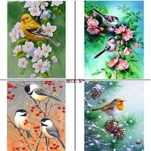 MEIVN 5D DIY Diamond Painting Four Seasons Of Birds Full Square Round Diamond Embroidery Animal Rhinestones Pictures Crafts Kit