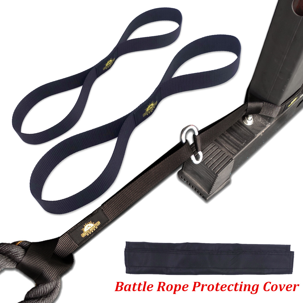 Fitness Battle Rope Anchor Strap Kit Heavy Duty Reinforced Nylon Big Size Easy Setup For Home Gym Outdoor Exercise Training