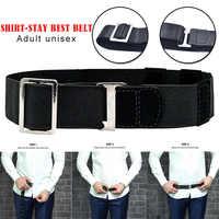 Caliente moda camisa soporte ajustable cerca de la camisa estancia mejor cinturón para Mujeres Hombres trabajo Entrevista Color negro 120cm Cintura camicia H66