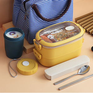 ONEUP 304 Stainless Steel Lunch Box Single / Double / Three-layer Portable Bento Box Large Capacity Student Child Food Container
