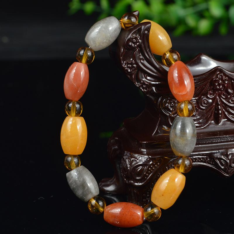 Natural gold silk jade bracelet  rough stone wholesale
