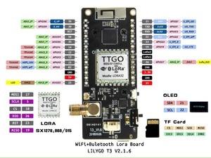 Image 3 - LILYGO® TTGO Disaster Radio LoRa32 V2.1 1.6 Version 433/868/915MHZ LoRa ESP 32 OLED 0.96 Inch SD Card Bluetooth WIFI Module