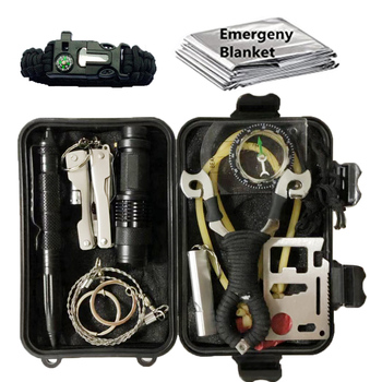 11 In 1 Camping Survival Kit Set Outdoor  Travel Survival Products EDC Tool Emergency Supplies Tactical Tools For Wilderness