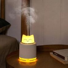 ELOOLE 300ML USB Mini Katze Bär Luftbefeuchter Ultraschall Aroma Öl Ätherisches Diffusor LED Licht Nebel Maker Startseite Auto Luftbefeuchter