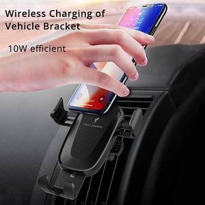 Image 4 - Soporte para cargador de coche inalámbrico de 10W, Clip de ventilación de aire para Samsung Galaxy Note 10 Plus, soporte de teléfono de carga rápida para coche
