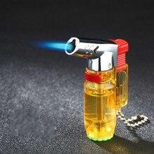 Прямая Зажигалка оригинальность надувание небольшой распылитель пистолет-распылитель зажигалка