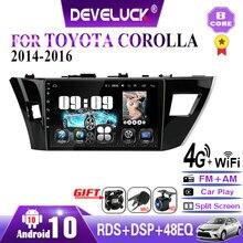 Autoradio Android 10, 6 go/128 go, Navigation GPS, lecteur multimédia vidéo, 2din, unité centrale pour voiture Toyota Corolla Ralink (2013, 2014, 2015, 2016)