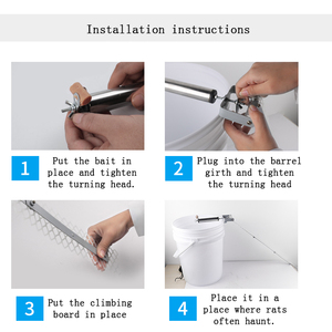 Image 3 - Upgraded Auto Mouse Traps Household Pest Mice Control Rodent Bait Killer Stainless Steel Rolling Stick Rat Catcher Mousetrap