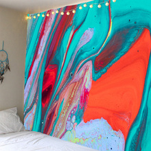 Abstract color splash ink printed tapestry background decoration cloth factory direct sales can be customized size