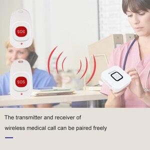 Image 4 - Retekess bakıcı çağrı cihazı kablosuz SOS çağrı düğmesi hemşire çağrı uyarısı hasta yardım sistemi ev yaşlı hasta