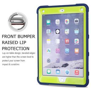 Image 2 - חדש שריון מקרה עבור iPad 9.7 2017 2018 5th 6th דור בטוח כבד החובה סיליקון קשיח כיסוי עבור iPad 9.7 2018 Tablet מקרה