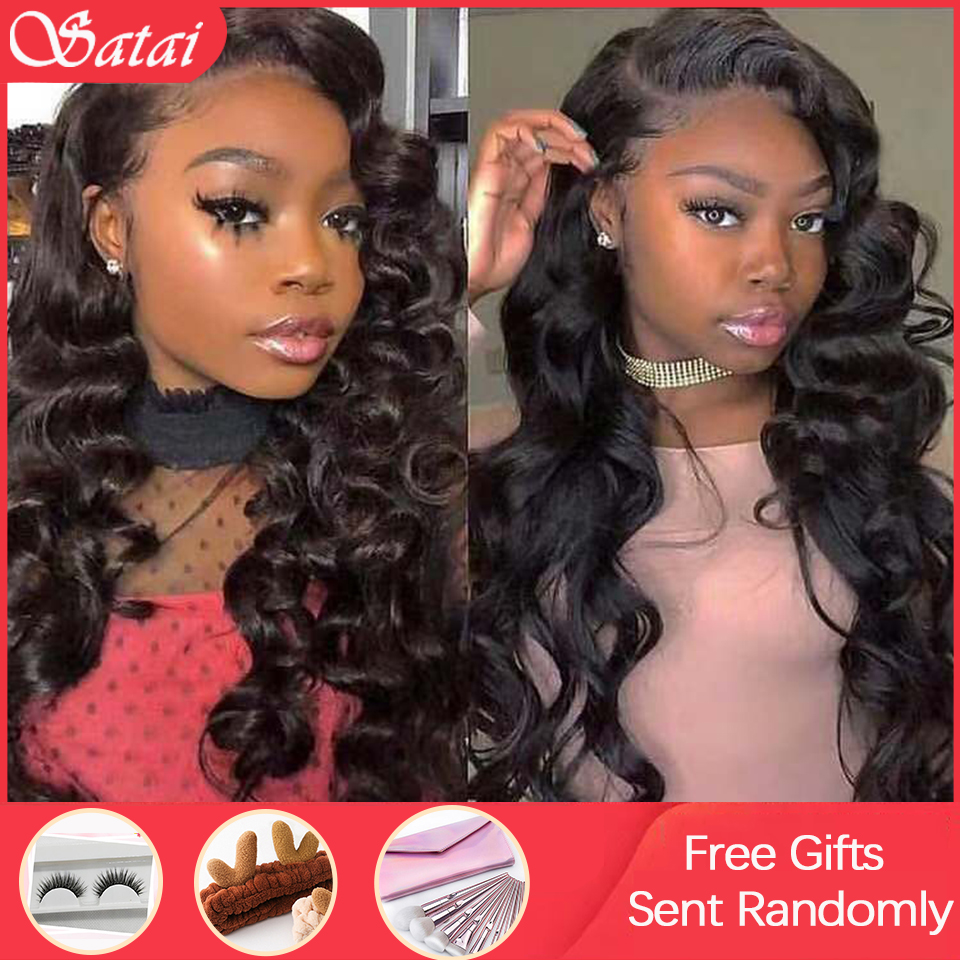 Loose Wave Lace Front Human Hair Wigs 13x4 Lace Front Wig Pre Plucked Hairline With Baby Hair Peruvian Remy Human Hair Wigs