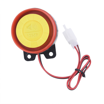 1pc 12V Car Truck Horn Simple Design Motorcycle Electric Driven Loud car hornAir Raid Siren Alarm Safety Horn accessories image