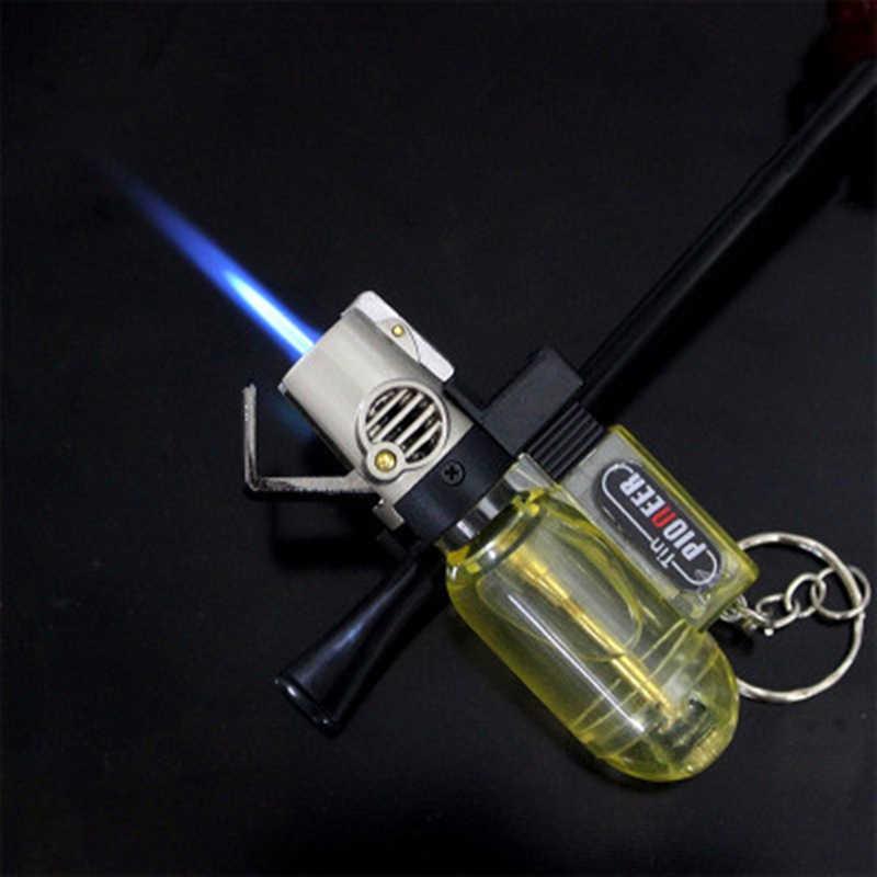 Hot Jet Lebih Ringan Torch Turbo Lighter For Cigar Pipa Gantungan Kunci Nozel Windproof Butane Gas Bensin Lebih Ringan 1300 C untuk Outdoor