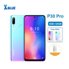 Globale version HOMTOM P30 pro MT6763 Octa Core 4GB 64GB Smartphone 6,41 Zoll Android 9,0 Hinten 13MP Triple kameras Handy