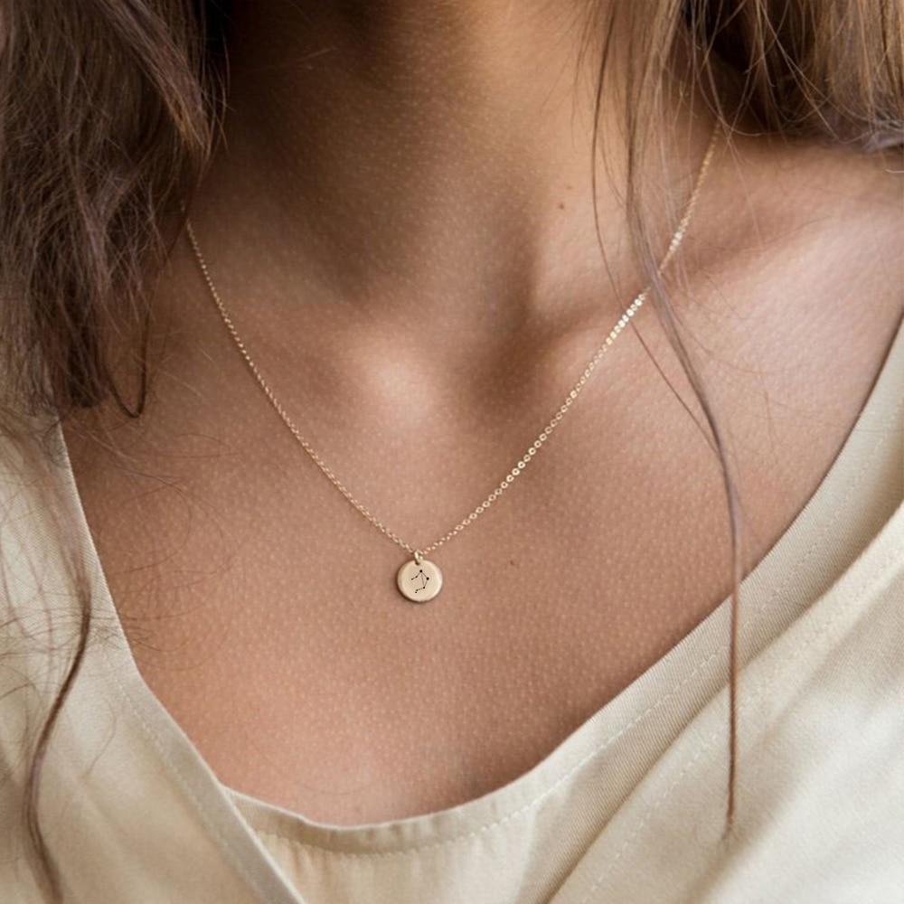 eManco Trendy Gold Color 316L Necklace women Personalized Bestfriend Necklace Dainty Minimalist Necklace Jewellery