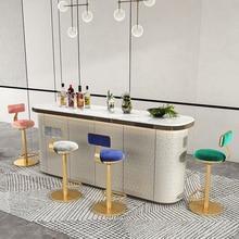 Bar stools Nordic lift high Chair Bar furniture lightluxury iron Spin backrest bar chair front desk counter stool Home furniture