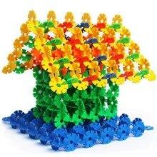 Игрушки для раннего обучения, Обучающие игрушки,, 50 шт., Снежная Снежинка, строительные блоки, игрушки, кирпичи, сборка, классика