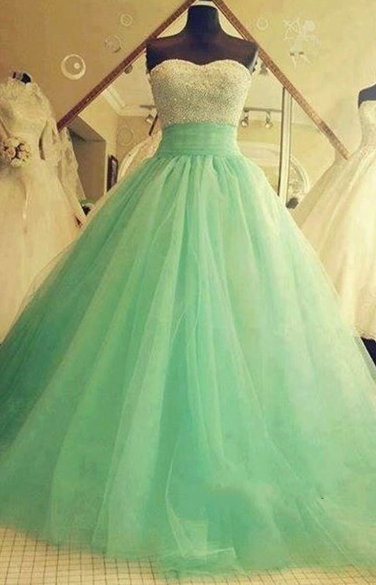 White And Green 2018 Ball Gown Crystal Sexy Quinceanera Waistline Sexy Sweetheart Vestido De Noiva Mother Of The Bride Dresses