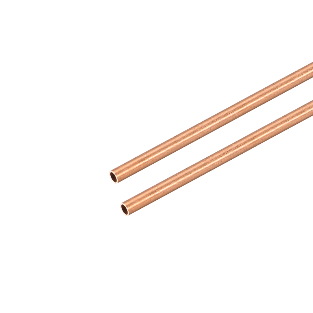 Uxcell 2 шт медные круглые трубки 2 мм-10 мм OD 300 мм длинные прямые трубы для промышленных морских мастеров