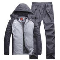 3359 Зимний толстый мужской костюм, повседневный спортивный костюм, кардиган, брюки, спортивная одежда для бега, мужской хлопковый комплект п...