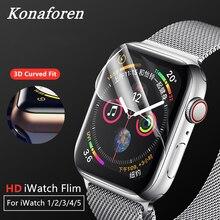 화면 보호기 clear full coverage apple watch 용 보호 하이드로 겔 필름 5 4 44mm 40mm for iwatch 1 2 3 42mm 38mm not glass