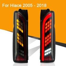 ไฟท้ายLEDสำหรับสำหรับTOYOTA HIACE 2005   2018 ไฟท้ายLEDย้อนกลับลำดับเปลี่ยนสัญญาณLightไฟตัดหมอกด้านหลัง