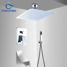 """Потолочный 1"""" дождь насадка для душа клапан смеситель кран Водопад Носик ручной душ"""
